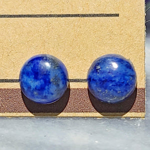 Gemstone Stud Earrings | Lapis Lazuli Gemstone