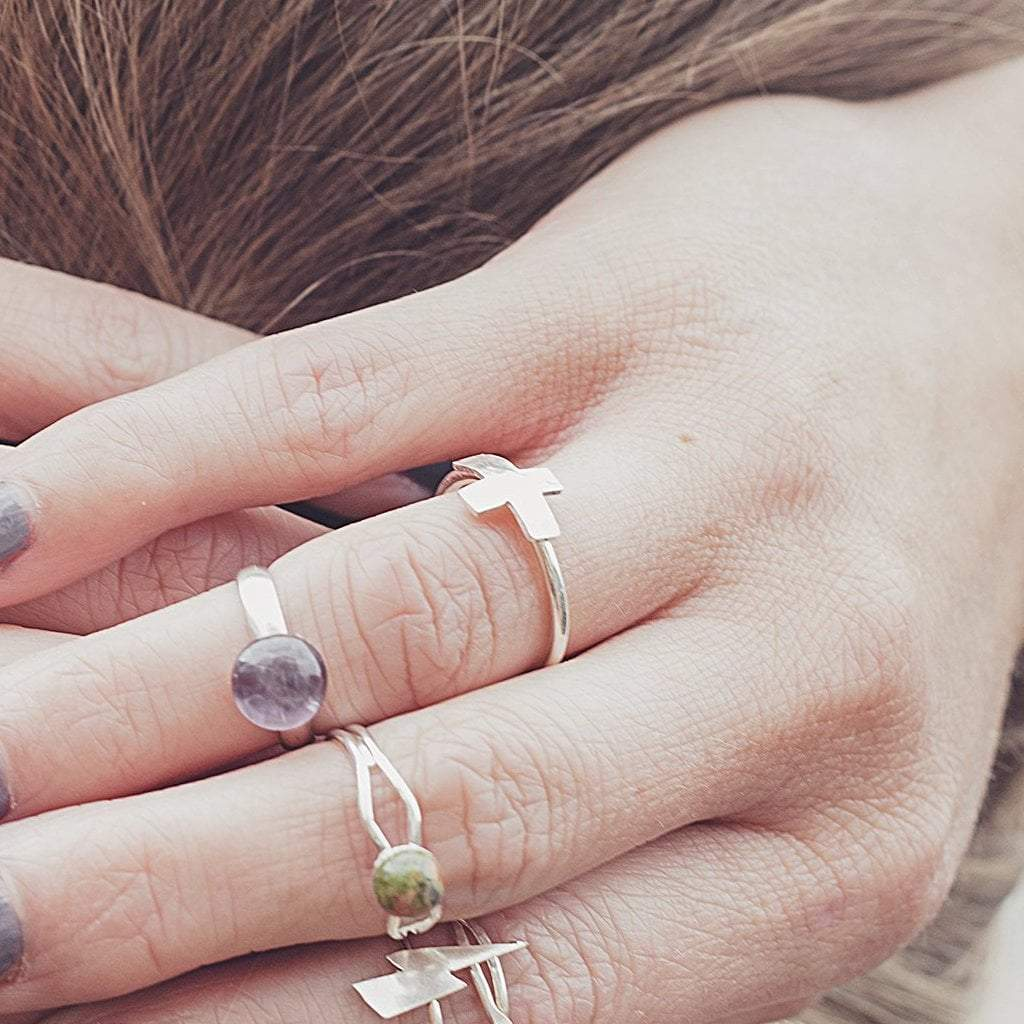 The Journey | Cross Ring | Sterling Silver Rings Alora Boutique