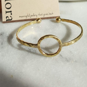 Circle of Life | Open Sphere Bracelet | Raw Brass Bracelets Alora Boutique