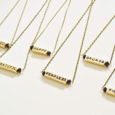 """I am"" Affirmation Necklaces 