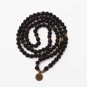 Mala Necklace Canada | Lava | Lotus Necklaces Alora Boutique Brass