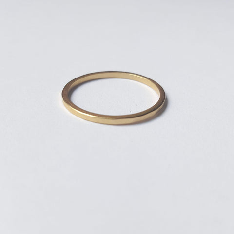 Delicate Hammered Brass Ring