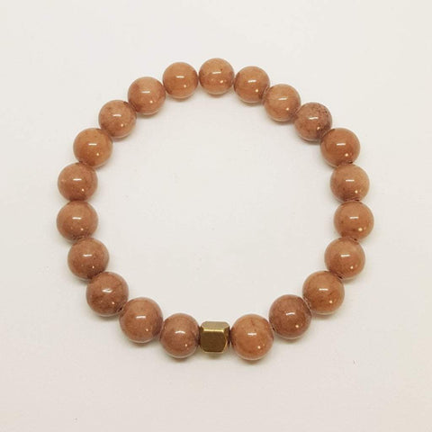 Balance, Protection, Calming | Beaded Stretch Bracelet | Camel Agate Gemstone