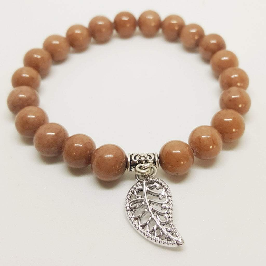 Balance, Protection, Calming | Beaded Stretch Bracelet | Camel Agate Gemstone - Alora Boutique - Jewelry with meaning that gives back fashion for good
