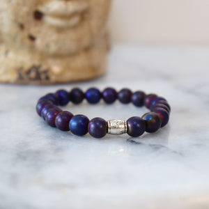 Hematite/Aventurine Bracelets (Assortment) - Calm and Discipline Bracelets Alora Boutique Purple Hematite - Solid Silver