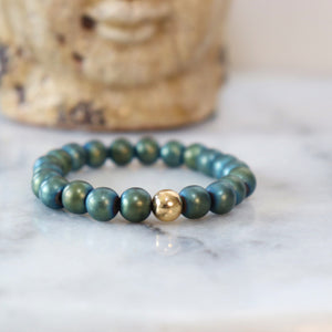 Hematite/Aventurine Bracelets (Assortment) - Calm and Discipline Bracelets Alora Boutique