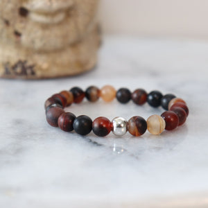 Hematite/Aventurine Bracelets (Assortment) - Calm and Discipline Bracelets Alora Boutique Red/Brown Aventurine - Silver