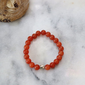Hematite/Aventurine Bracelets (Assortment) - Calm and Discipline Bracelets Alora Boutique Orange Aventurine