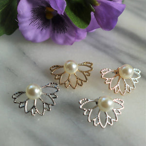 Floral Earring Jackets Earrings Alora Boutique