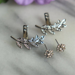 Leaf Jacket Earrings Earrings Alora Boutique