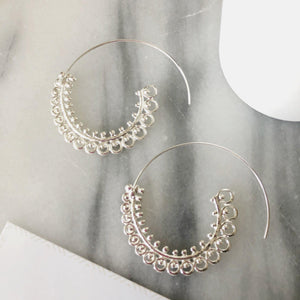Karina Sprial Earrings Earrings Alora Boutique Spiral (Silver)