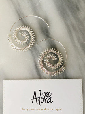 Karina Sprial Earrings Earrings Alora Boutique