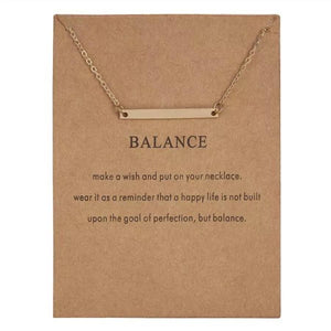 Meaningful Jewelry Gifts - Necklaces with Meaning Cards (Multiple Variants) Necklaces Alora Boutique Balance