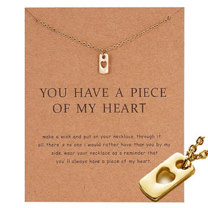 Meaningful Jewelry Gifts - Necklaces with Meaning Cards (Multiple Variants) Necklaces Alora Boutique You Have A Piece of My Heart