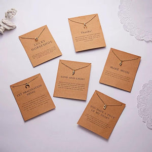 Meaningful Jewelry Gifts - Necklaces with Meaning Cards (Multiple Variants)