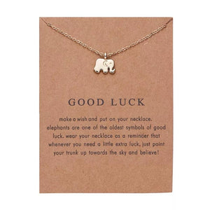 Meaningful Jewelry Gifts - Necklaces with Meaning Cards (Multiple Variants) Necklaces Alora Boutique Good Luck
