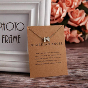 Meaningful Jewelry Gifts - Necklaces with Meaning Cards (Multiple Variants) Necklaces Alora Boutique Guardian Angel