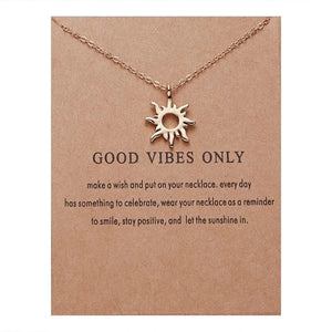 Meaningful Jewelry Gifts - Necklaces with Meaning Cards (Multiple Variants) Necklaces Alora Boutique Good Vibes Only