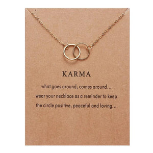 Meaningful Jewelry Gifts - Necklaces with Meaning Cards (Multiple Variants) Necklaces Alora Boutique Karma