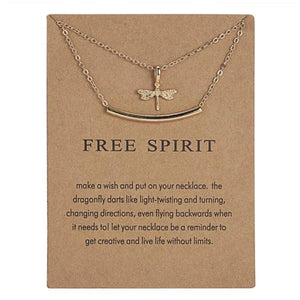 Meaningful Jewelry Gifts - Necklaces with Meaning Cards (Multiple Variants) Necklaces Alora Boutique Free Spirit