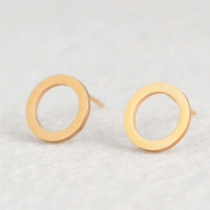 Chizue Open Circle Stud Earrings Earrings Alora Boutique Gold Plated