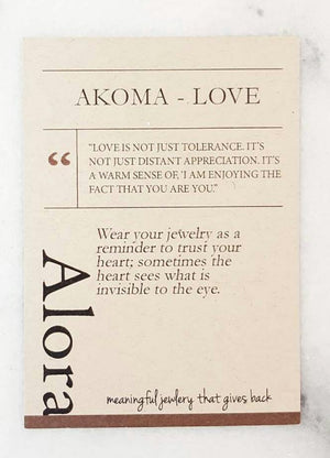 Akoma | Heart Pendant Necklace | Recycled Brass