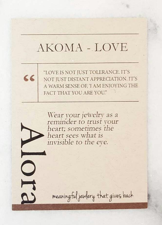 Akoma | Heart Necklace | Recycled Brass