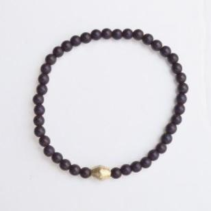Protection, Strength, and Stability |  Delicate Beaded Stretch Bracelet | Lava Gemstone