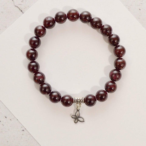Limited Edition Women In Need Bracelet Self-Empowerment and Regeneration | Beaded Stretch Bracelet | Garnet Gemstone