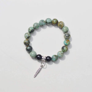 African Turquoise Gemstone Bracelet | Growth, Awareness, and Positivity Bracelets Alora Boutique