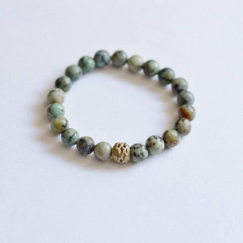 Growth, Awareness, and Positivity | Beaded Stretch Bracelet | African Turquoise Gemstone - Alora Boutique