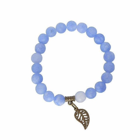 Peace, Serenity, Intuition | Beaded Stretch Bracelet | Blue Jade Gemstone - Alora Boutique - Jewelry with meaning that gives back fashion for good