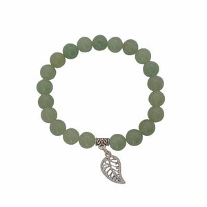 Calm, Rationality, Self-discipline | Beaded Gemstone Bracelet | Green Aventurine Gemstone - Alora Boutique - Jewelry with meaning that gives back fashion for good