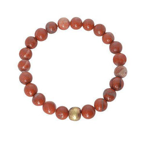 Appreciation, Empowerment, Understanding | Beaded Stretch Bracelet | Red Jasper Gemstone Bracelets Alora Boutique