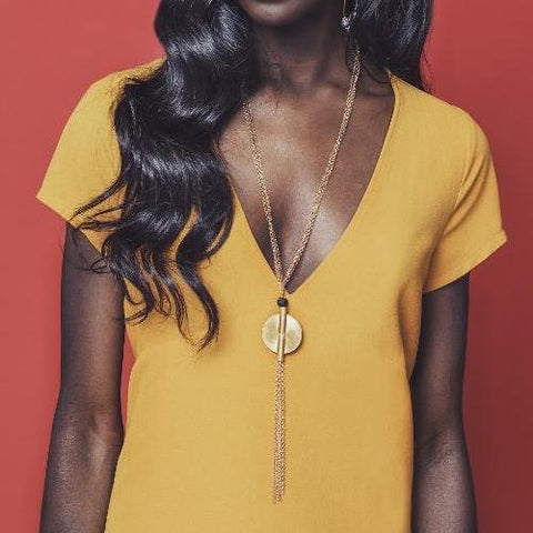 Jalyn Necklace - Alora Boutique - Jewelry with meaning that gives back fashion for good