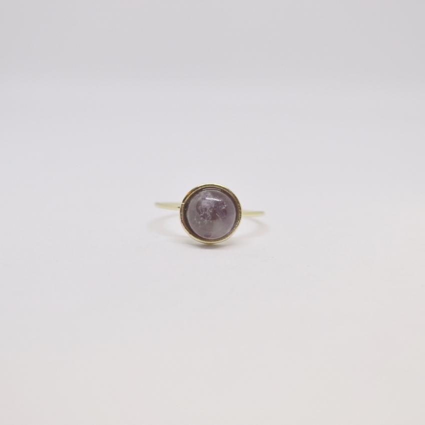 Awareness, Honesty and Inspiration | Gemstone Ring | Gold and Silver | Amethyst Gemstone - Alora Boutique - Jewelry with meaning that gives back fashion for good