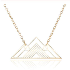 Aspen Mountain Necklace - 2 styles! Necklace Alora Boutique Gold Geometric