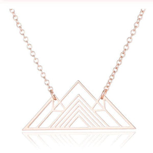 Aspen Mountain Necklace - 2 styles! Necklace Alora Boutique Rose Gold Geometric