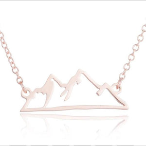 Aspen Mountain Necklace - 2 styles! Necklace Alora Boutique Rose Gold Simple