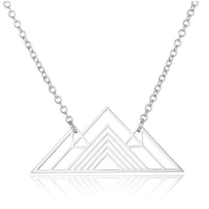 Aspen Mountain Necklace - 2 styles! Necklace Alora Boutique Silver Geometric