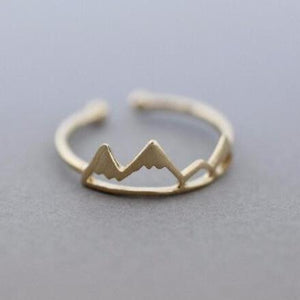 Aspen Rocky Mountain Range Ring Rings Alora Boutique Gold