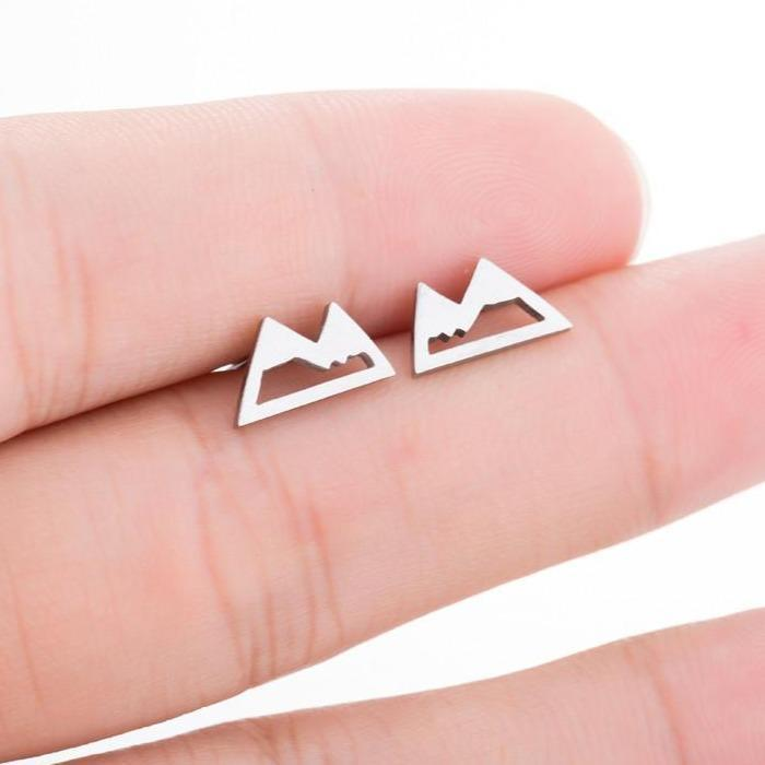 Aspen Rocky Mountain Stud Earrings - 4 Colors to Choose From
