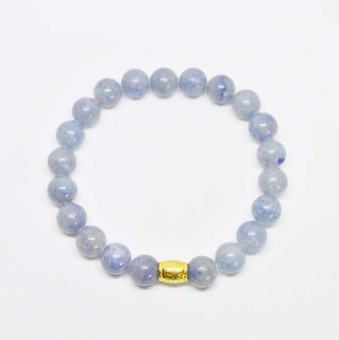 Calm, Rationality, Self-discipline | Beaded Gemstone Bracelet | Blue Aventurine Gemstone