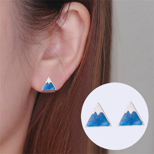 Blue Reflection Mountain Stud Earrings Earrings Alora Boutique