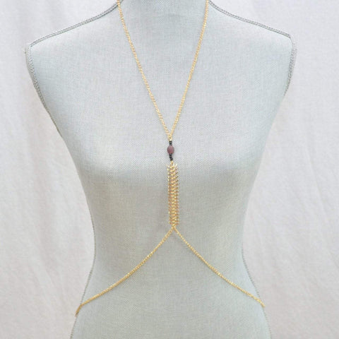 Be Your Own Kind of Beautiful Fish-bone Body Chain - Alora Boutique  - 1