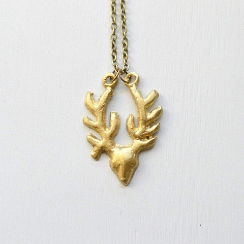 Antelope Pendant Necklace | Recycled Brass - Alora Boutique