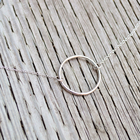 The Journey | Circle of Life | Open Circle Necklace | Sterling Silver - Alora Boutique