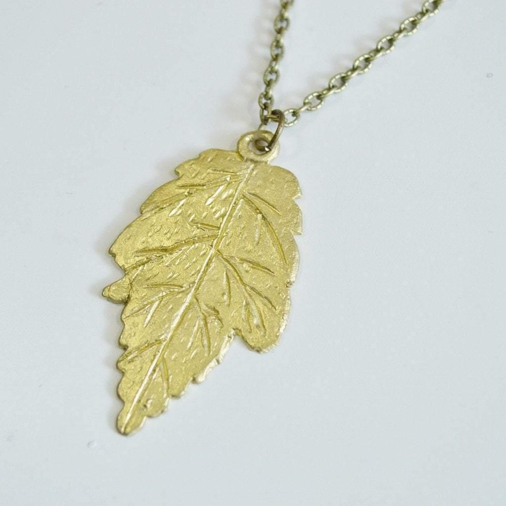 silver or necklace gold with plated maple moon full leaf