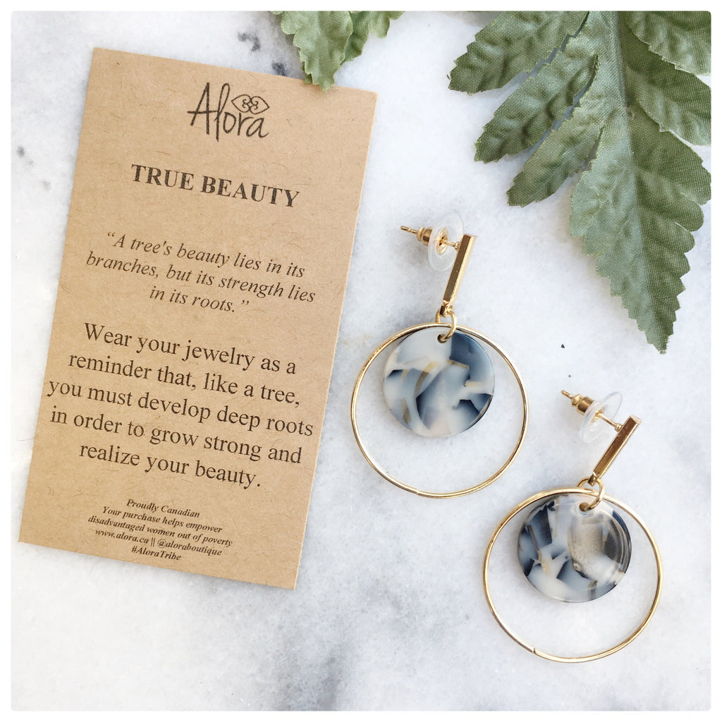 Zarah - True Beauty Double Circle Earrings