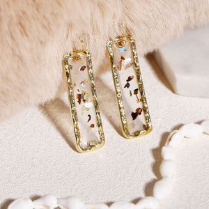 'Keisha' Dangle Resin Earrings Earrings Alora Boutique